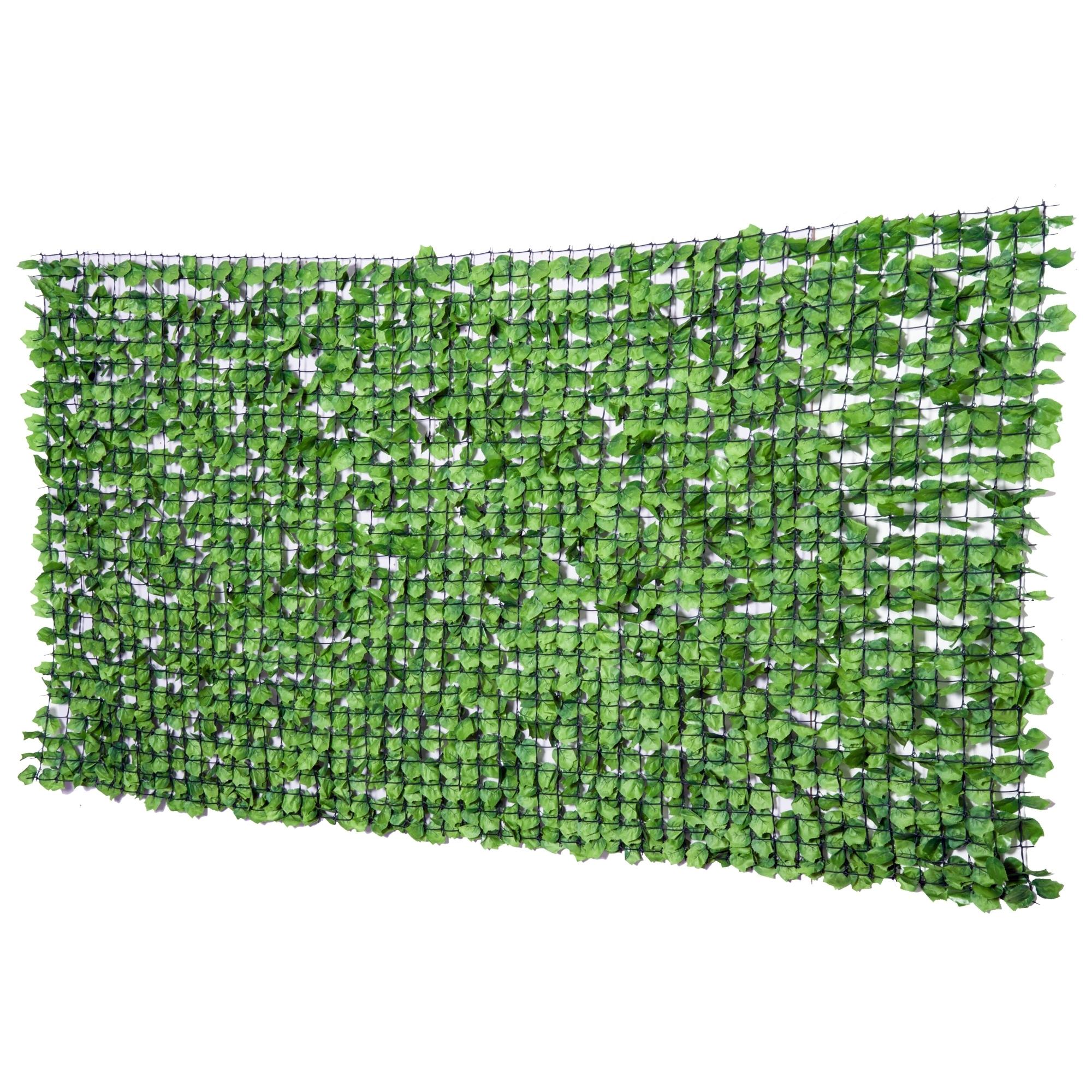 Outsunny Haie Artificielle Brise-vue Décorative Vert 300 x 1 x 150 cm