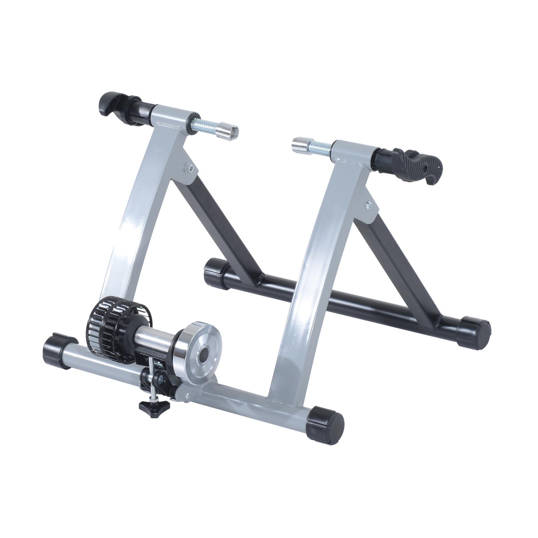 Homcom Home Trainer pour Vélo Argent 61 x 18,5 x 51 cm