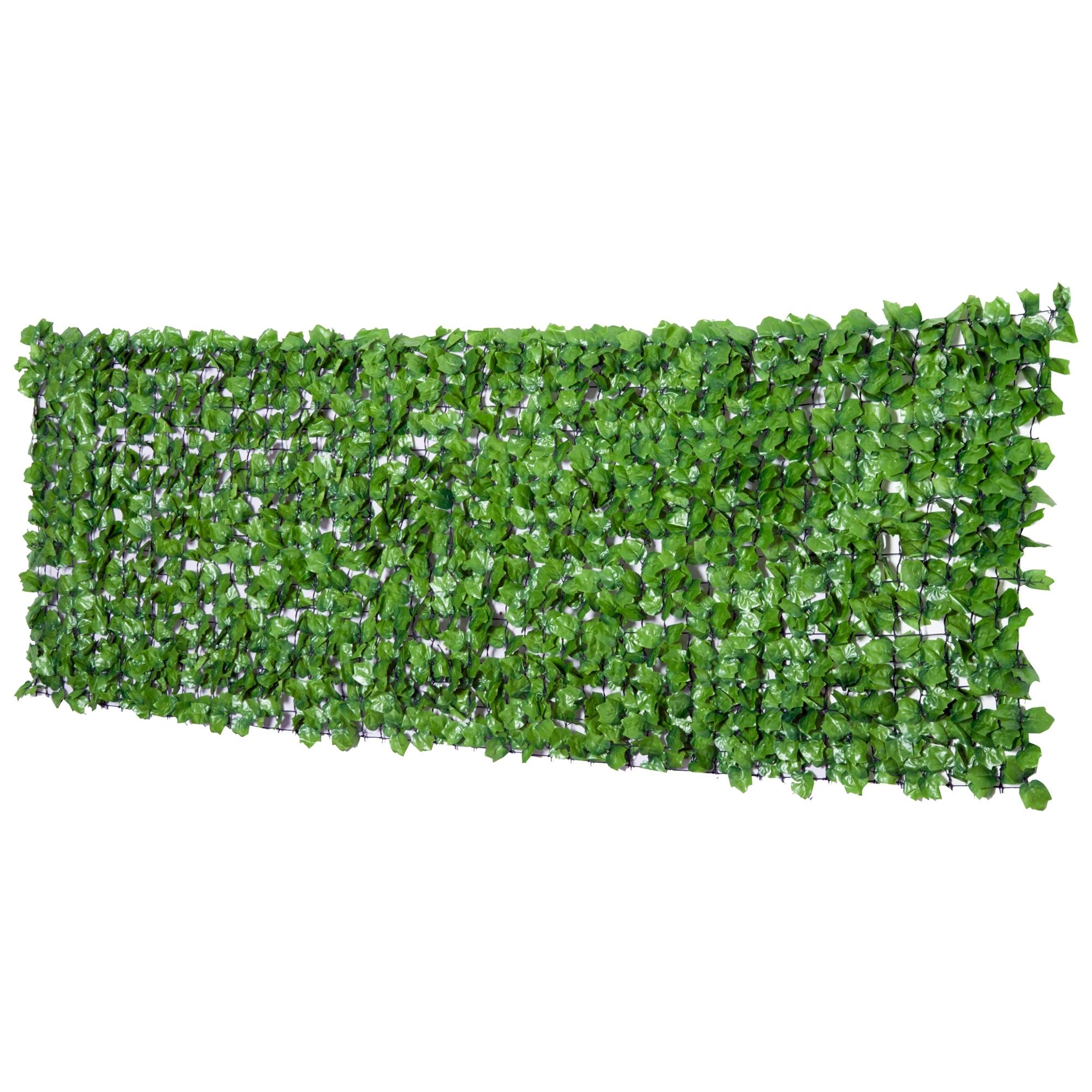 Outsunny Haie Artificielle Brise-vue Décorative Vert 300 x 1 x 100 cm