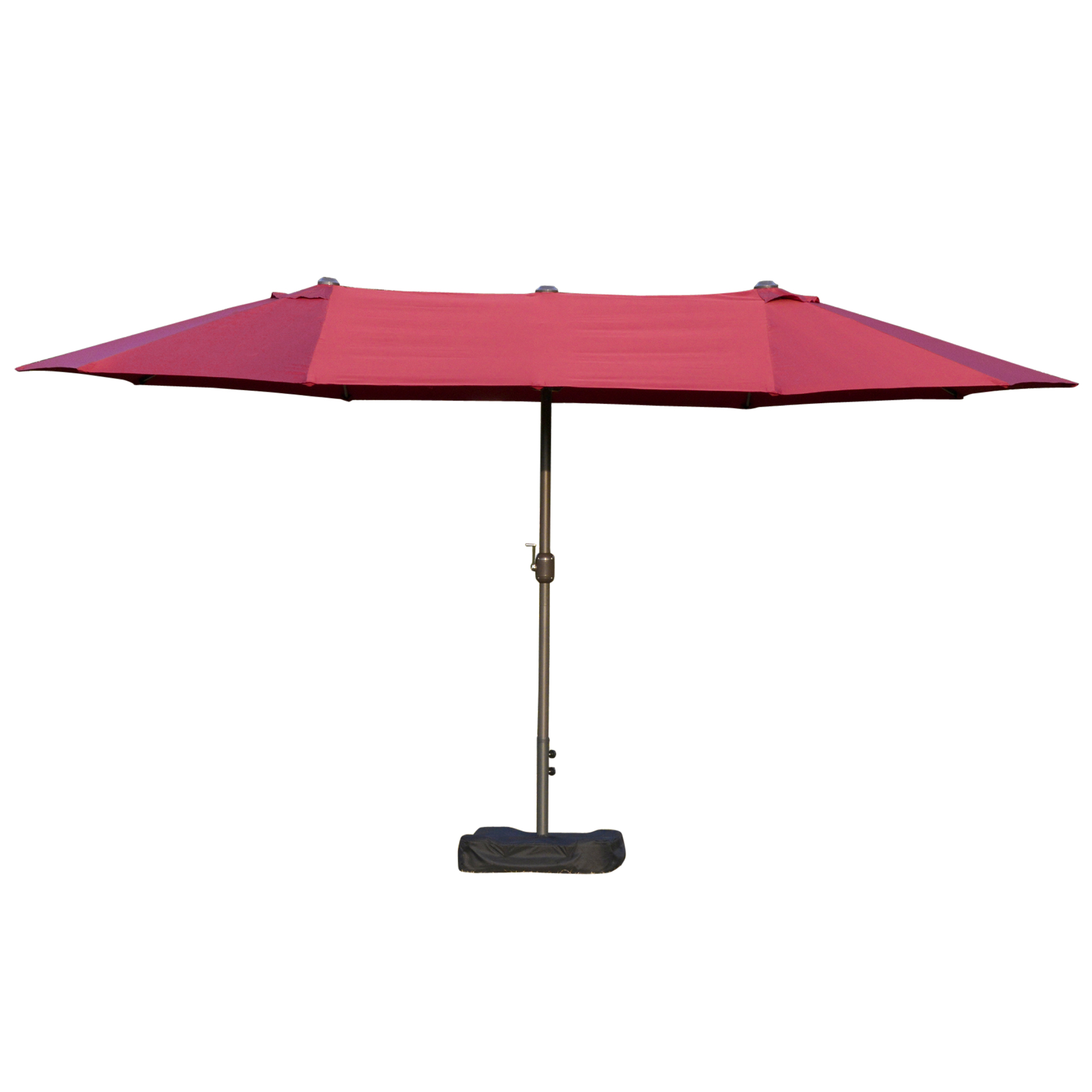 Parasol de jardin XXL pied contrepoids inclus acier polyester haute densité