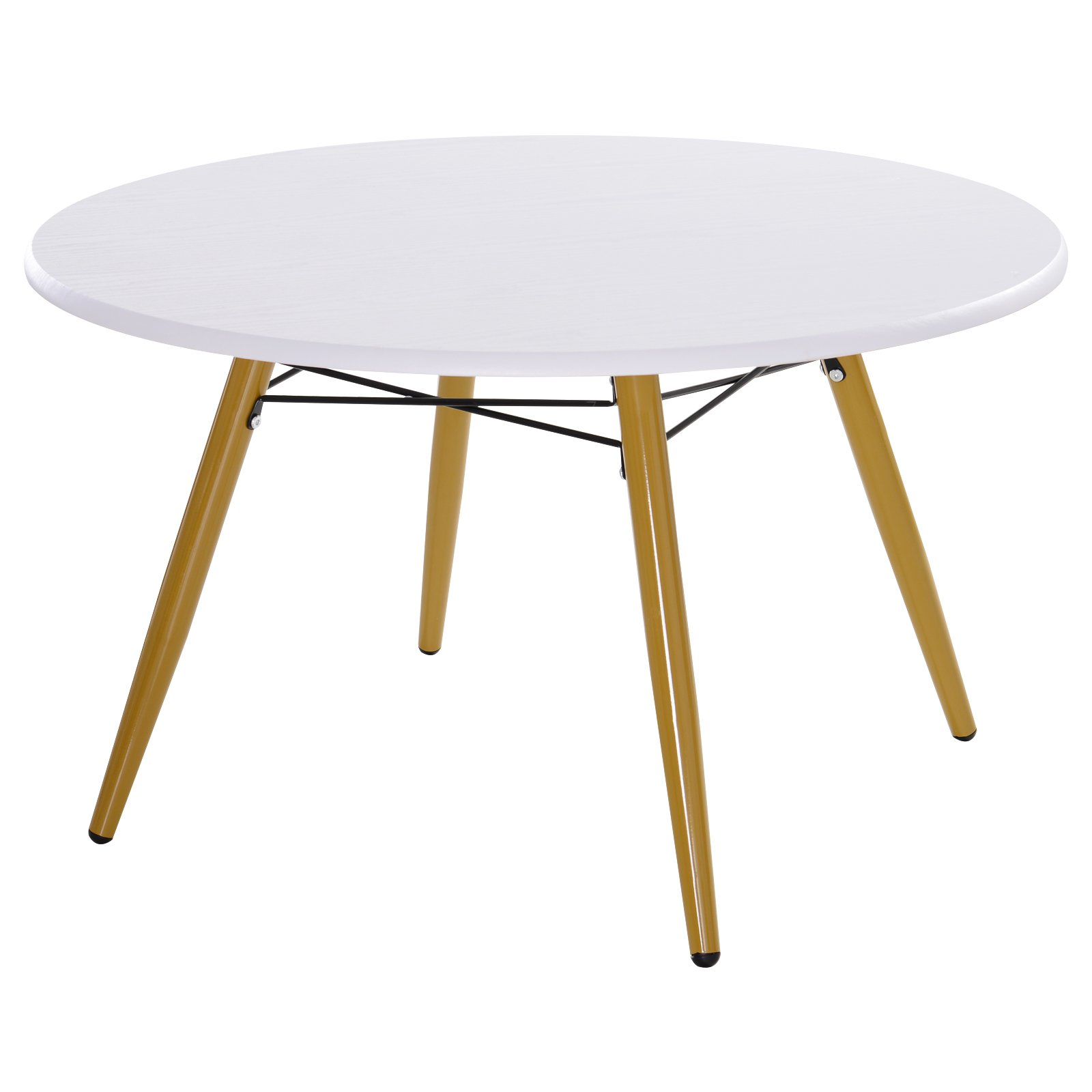 Homcom Table Basse Ronde Design Scandinave en Bois 80 x 80 x 45 cm