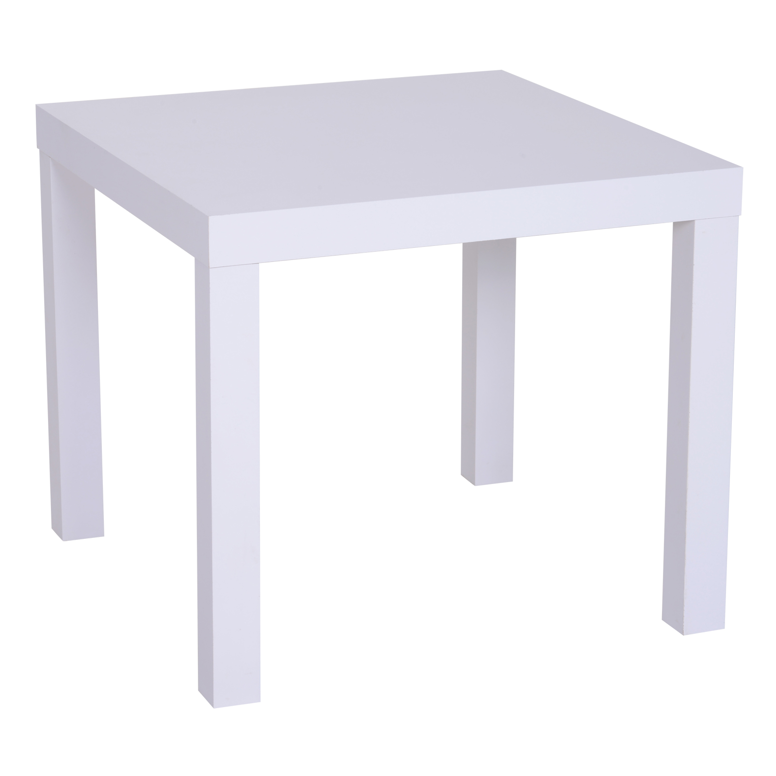 Homcom Table basse carrée table d'appoint design contemporain dim. 51L x 51l x 45H cm panneau en nid d'abeille blanc