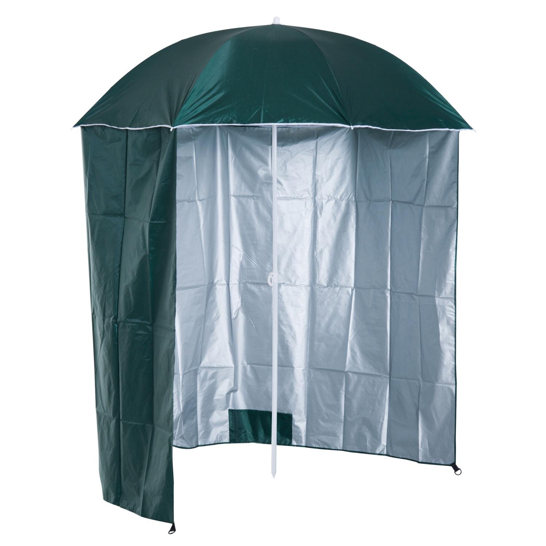 Outsunny Parasol de Plage Anti-UV Vert Ø2,2 m x 2,22 m