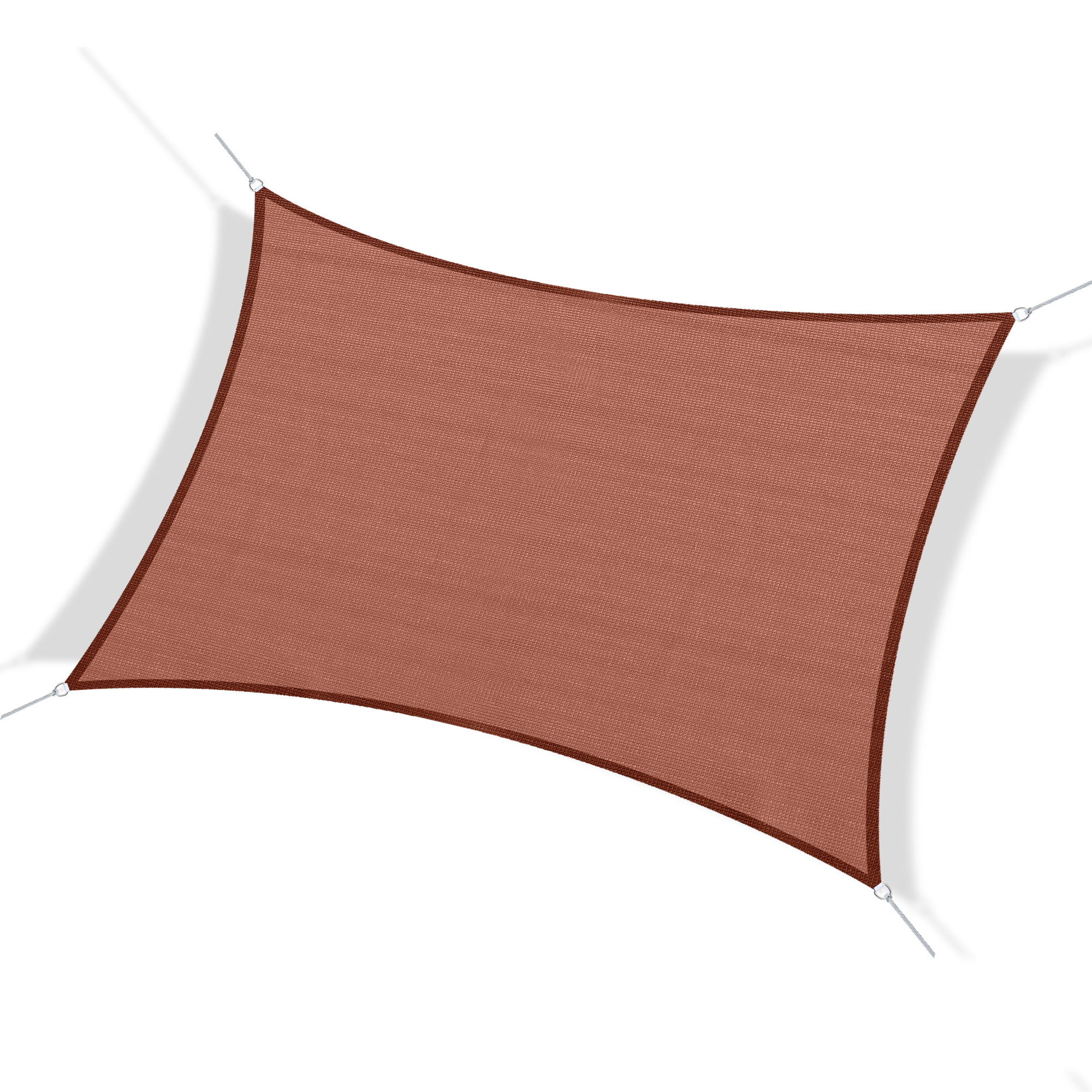 Outsunny Voile d'Ombrage Rectangulaire Rouge 40 x 35 x 16,5 cm