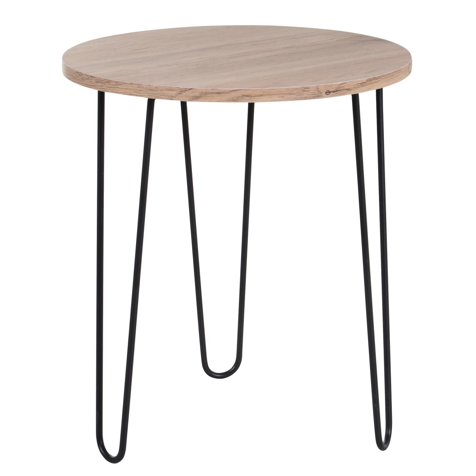Table basse ronde design industriel