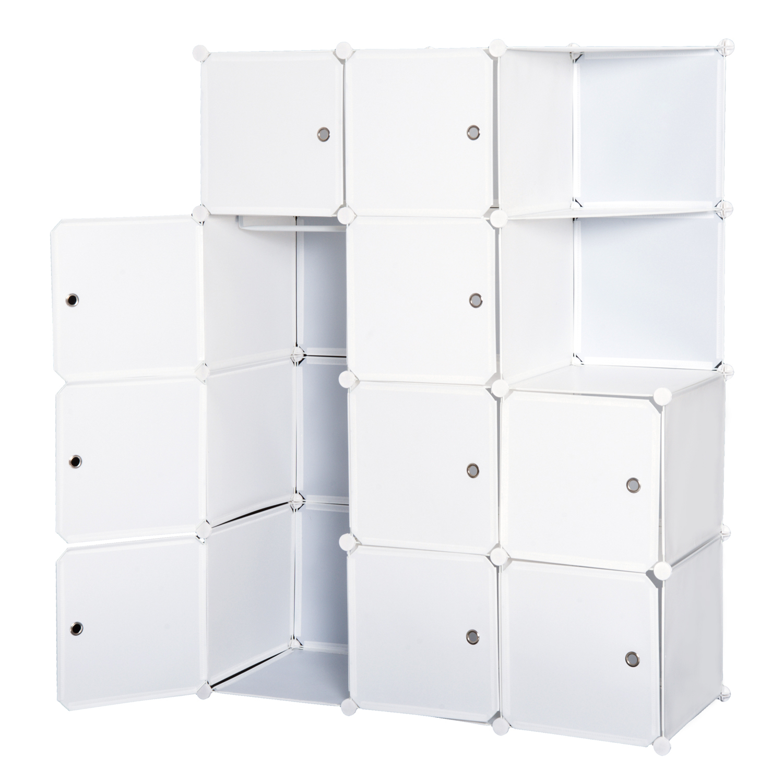 Homcom Armoire Penderie Multi-Rangements en Plastique 49 x 37 x 108 cm