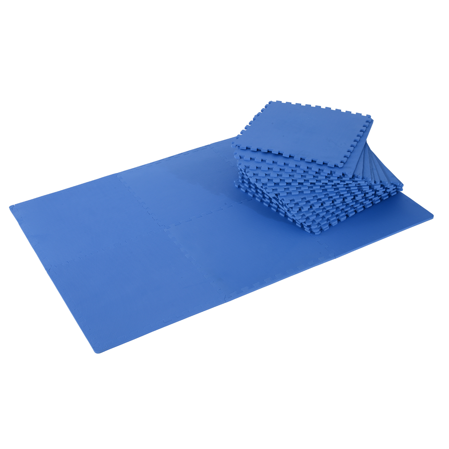 Homcom Tapis Interconnectables en Mousse Bleu 62 x 62 x 1 cm