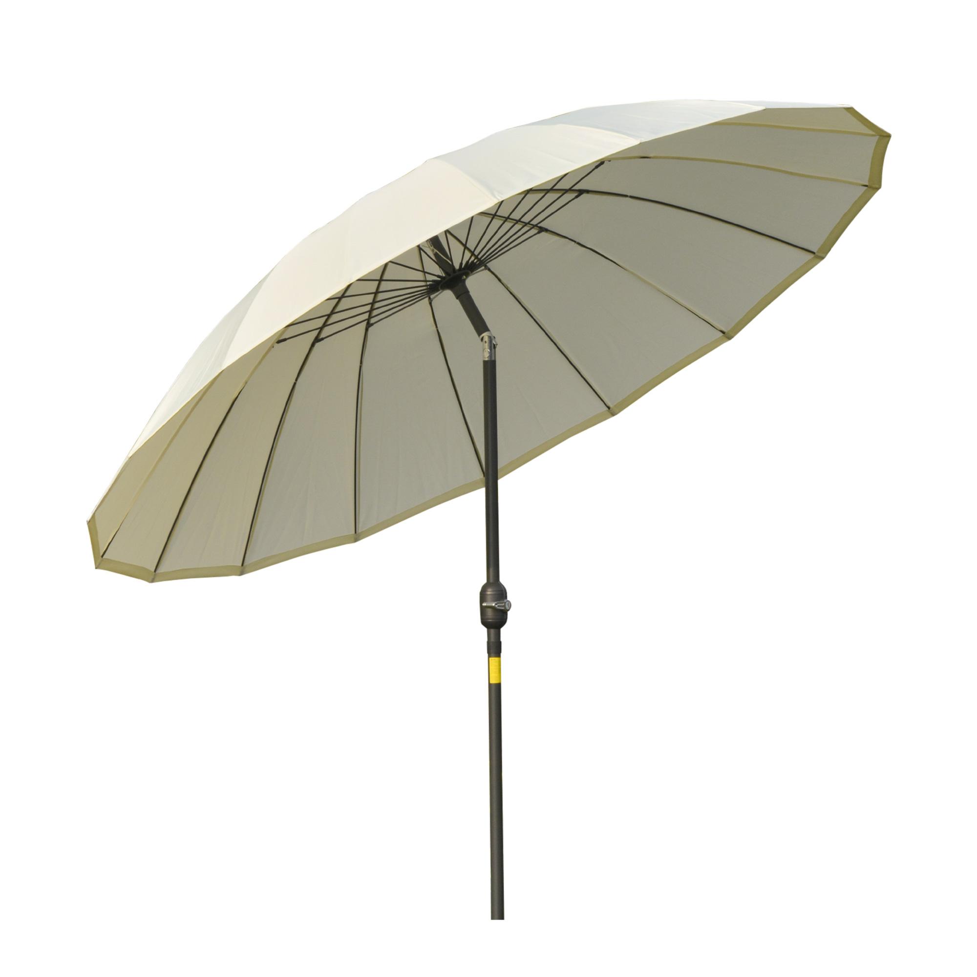 Parasol inclinable rond avec manivelle métal polyester haute densité