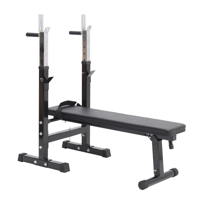 Banc de musculation Fitness pliable complet noir