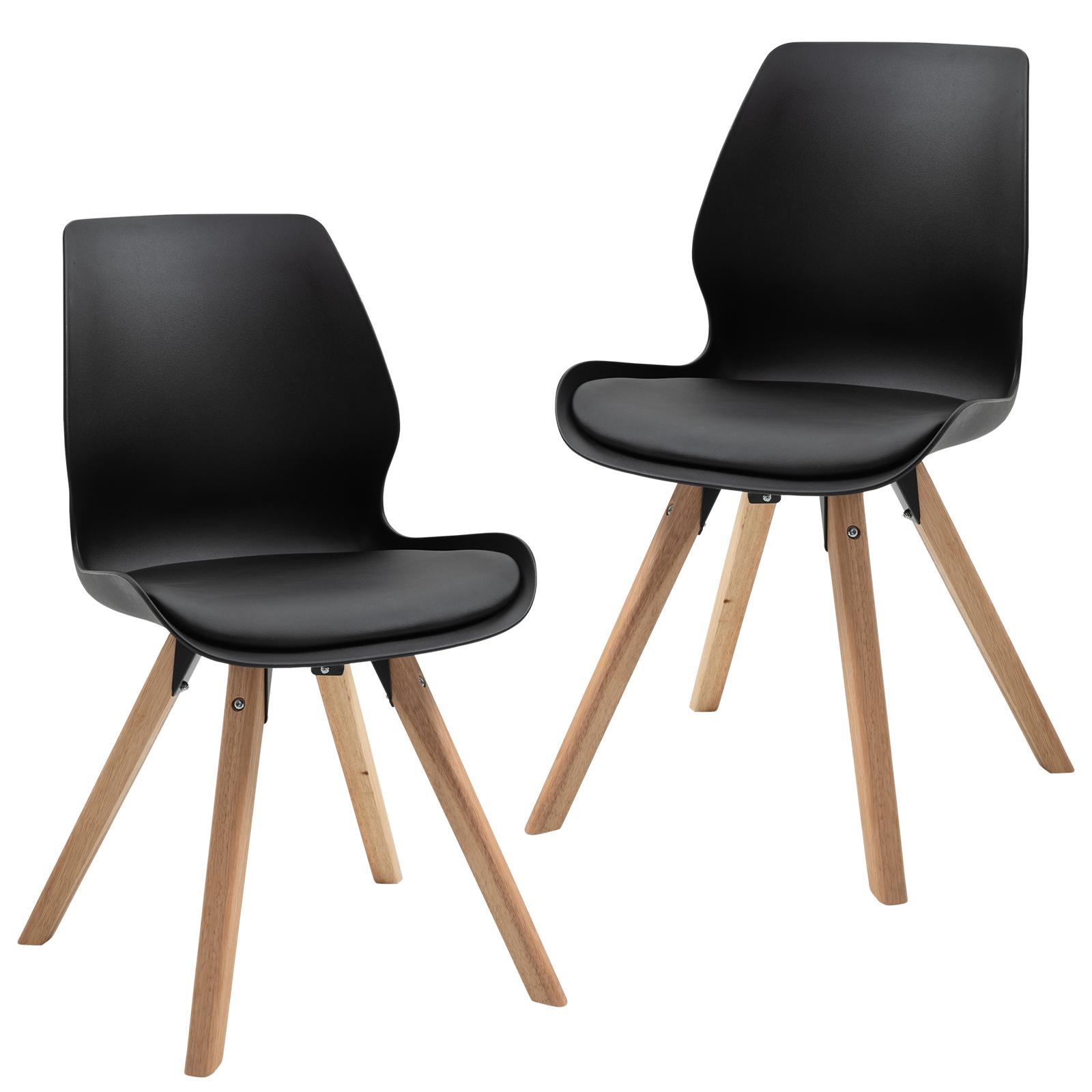 Lot de 2 chaises de salon design scandinave