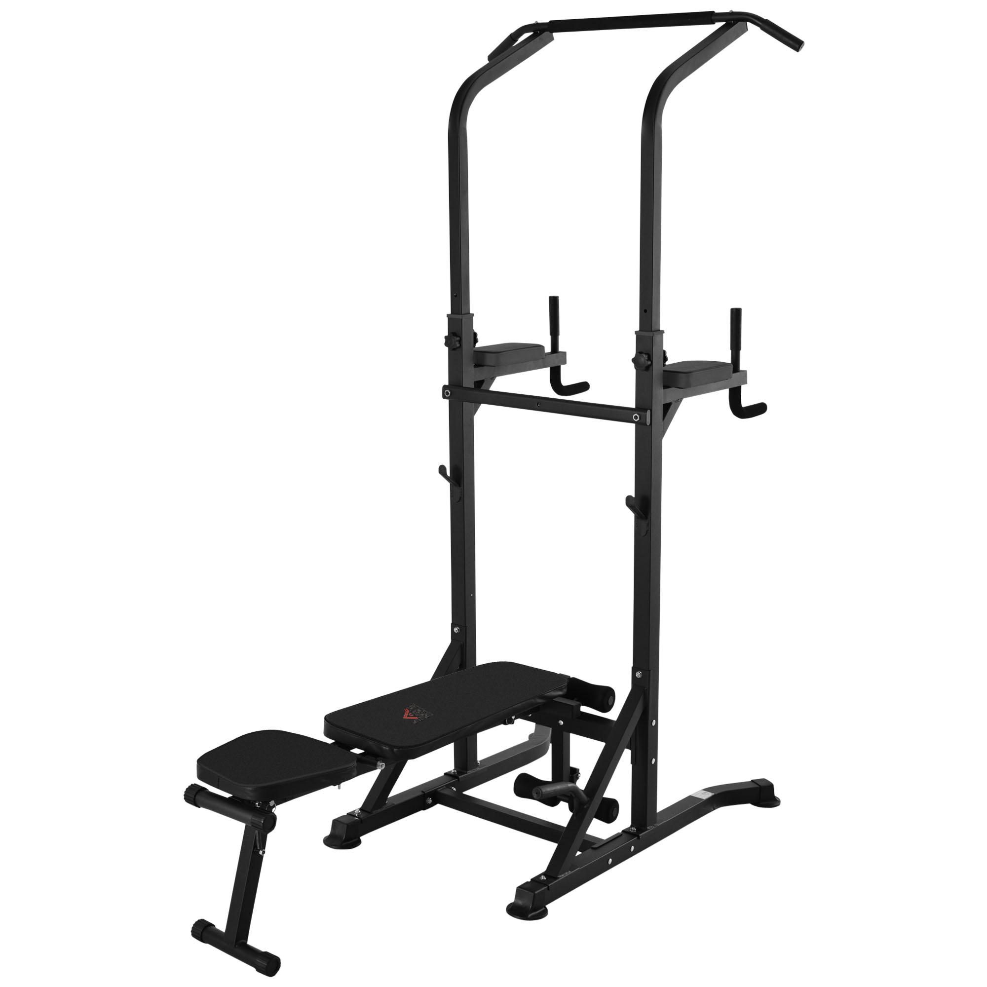 Station de musculation Fitness entrainement complet acier noir