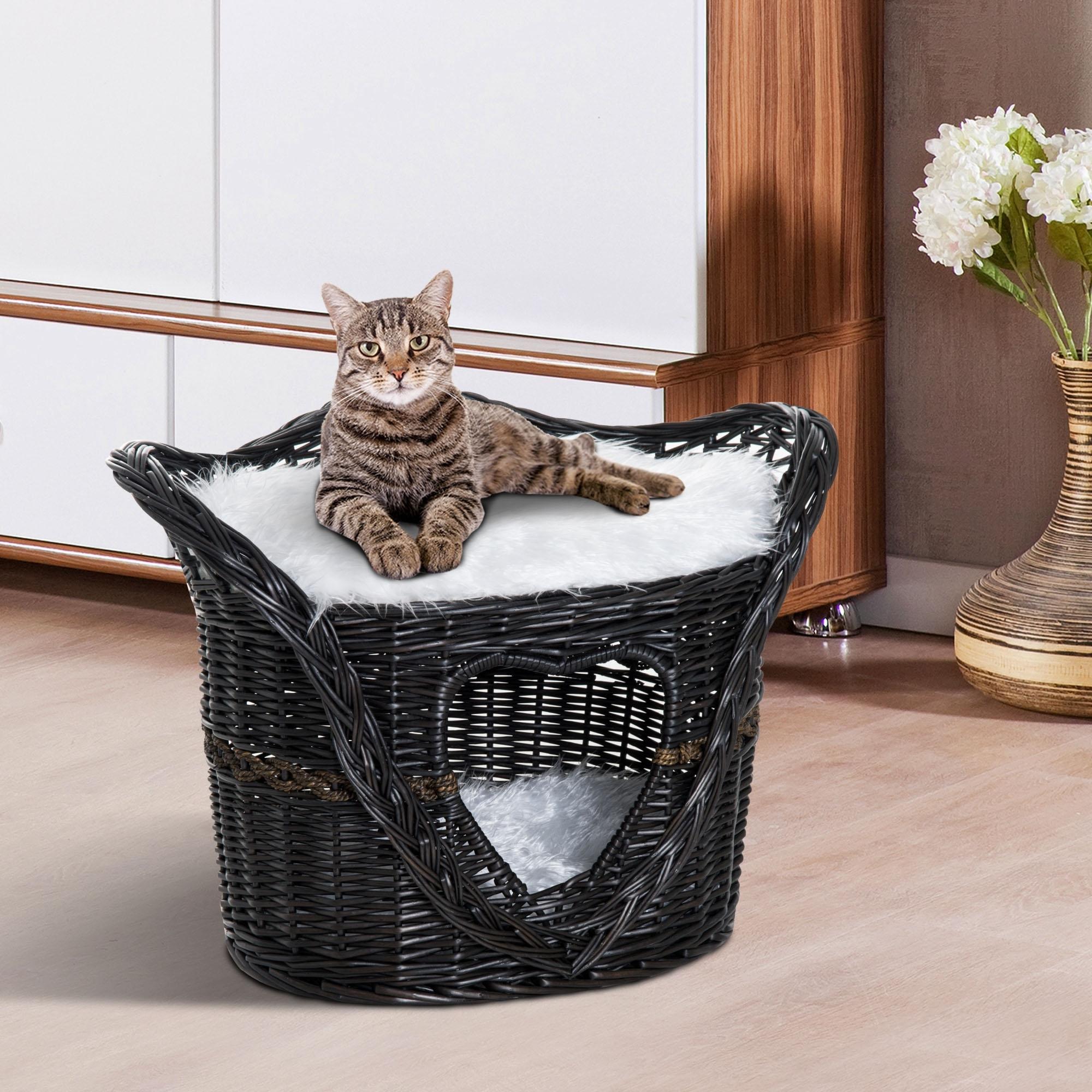 Grand Coussin Pour Exterieur eur59,90 pawhut niche pour chat extérieur intérieur maison
