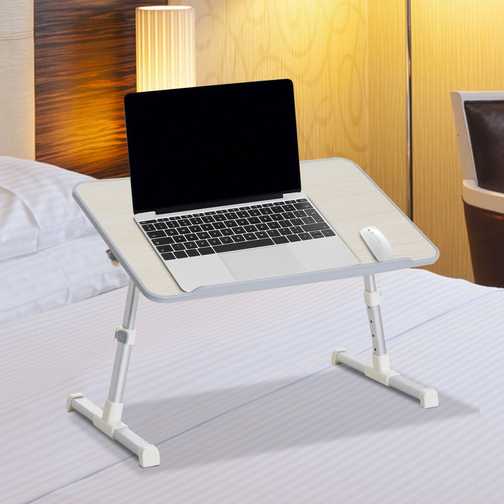Eur22 90 Homcom Table De Lit Pour Ordinateur Portable Pliable